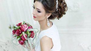 Красивые свадебные прически с фатой и диадемой