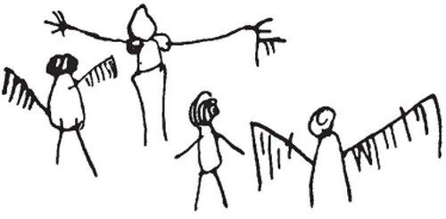 Расположение рук, ног у нарисованных людей что рисует ваш ребенок